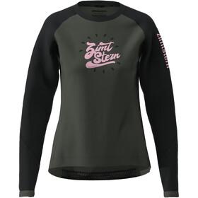 Zimtstern PureFlowz Camiseta Manga Larga Mujer, gris/negro